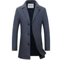woolen coat Grey without cashmere, black without cashmere, Navy without cashmere, grey collar with cashmere, black collar with cashmere, Navy collar with cashmere, grey with cashmere thickening, black with cashmere thickening, navy with cashmere thickening Others Fashion City Woolen cloth Travel?