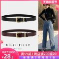 Belt / belt / chain Double skin leather 3067a black 3067a coffee 3067a reddish brown 3067b black 3067b coffee 3066 black 3066 coffee female belt Versatile Single loop Middle aged youth Pin buckle Glossy surface Glossy surface 2.8cm alloy Light body thick line decoration candy color elastic no