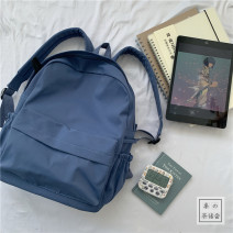 Backpack Nylon  Other / other brand new large zipper campus Japan and South Korea youth Solid color female yes 14 inches Three dimensional bag