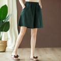 Casual pants Khaki, dark green, black, hemp M,L,XL,2XL Summer 2021 Pant Wide leg pants low-waisted Versatile Thin money 25-29 years old 51% (inclusive) - 70% (inclusive) other pocket hemp Asymmetry