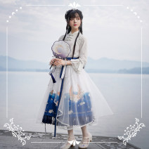 Lolita / soft girl / dress NyaNya Star night blue - first spot, day blue - first spot, dusk purple - first spot L,M,S,XL