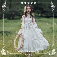 Lolita / soft girl / dress NyaNya Pure white jacquard, pure black jacquard S,M,L,XL,2XL