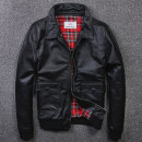 leather clothing urban baron Youth fashion black M,L,XL,2XL,3XL,4XL have cash less than that is registered in the accounts Leather clothes Lapel Slim fit zipper winter leisure time youth top layer leather Chinese style A350 Rib hem Digging bags with lids Rib bottom pendulum No iron treatment