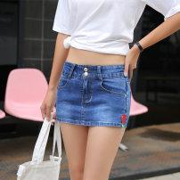 Jeans Summer of 2018 Dark blue S,XL,L,M,XXL,XXXL shorts Natural waist Straight pants routine Cotton elastic denim light colour Vermont e 71% (inclusive) - 80% (inclusive)