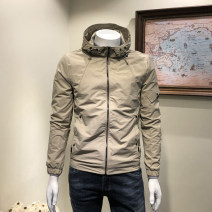 Jacket Musstosi Youth fashion Khaki black- M L XL 2XL 3XL 4XL 5XL 6XL routine Self cultivation Other leisure autumn MW75030 Polyamide fiber (nylon) 59% cotton 41% Long sleeves Wear out Hood tide youth routine Zipper placket washing Closing sleeve Solid color Autumn of 2018 More than two bags)