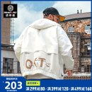 Jacket Spinner Penny Pei Youth fashion Off white 4XL 5XL 6XL 7XL 2XL 3XL routine easy Other leisure autumn JK1215 Polyester 91.5% polyamide 8.5% Long sleeves Wear out Hood tide youth routine Zipper placket Rubber band hem No iron treatment Closing sleeve other polyester fiber Autumn 2020