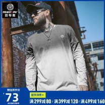 T-shirt Youth fashion white routine XL 2XL 3XL 4XL 5XL 6XL 7XL Spinner Penny Pei Long sleeves Crew neck easy daily winter T8219 Cotton 92.5% polyurethane elastic fiber (spandex) 7.5% Large size routine tide Sweat cloth Winter of 2018 other Printing + hanging dyeing cotton other Fashion brand