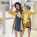 cheongsam Spring 2021 S,M,L,XL yellow Long sleeves Short cheongsam No slits 25-35 years old JK0129689 96% and above