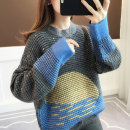 sweater Winter of 2019 Average size Long sleeves Socket singleton  Regular polyester fiber 31% (inclusive) - 50% (inclusive) Crew neck thickening commute routine shape Straight cylinder Regular wool Keep warm and warm 18-24 years old Anzoveve Thread asymmetry Pure e-commerce (online only)