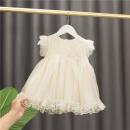 Dress Apricot, pink female Baobao elephant 80 # (recommended height 73cm-80cm), 90 # (recommended height 85CM), 100 # (recommended height 90cm), 110 # (recommended height 100cm), 120 # (recommended height 110cm) Cotton 95% polyurethane elastic fiber (spandex) 5% summer princess Short sleeve cotton