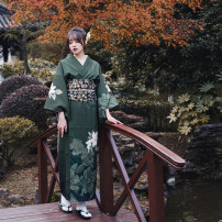 Dress Winter of 2019 Dark green (dark green) S (for height 155-165), m (for height 166-170), this link only includes bathrobes, other accessories need to be purchased separately longuette singleton  Sweet Decor Type H Mountain birds and colors printing More than 95% polyester fiber solar system