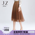 skirt Spring 2021 XS S M L XL 2XL 3XL 4XL light brown longuette Natural waist A-line skirt Type A 30-34 years old JWAC20112 More than 95% Juzui / Jiuzi polyester fiber Polyester 100% Same model in shopping mall (sold online and offline)