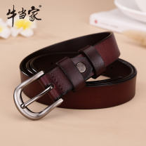 Belt / belt / chain Double skin leather Dark coffee (take note of waistline) light coffee (take note of waistline) black (take note of waistline) female belt Versatile Single loop Youth, middle age and old age Pin buckle 2.3cm alloy alone Cattle in charge NP9521 Spring and summer 2017 yes