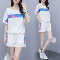 Women's large Summer 2020 T-shirt Two piece set commute easy thin Socket Short sleeve Solid color Korean version Crew neck routine cotton Three dimensional cutting routine 7319# Other / other 25-29 years old pocket 96% and above shorts Cotton 96% and above
