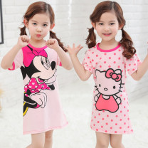 Home skirt / Nightgown Other / other Cotton 95% polyurethane elastic fiber (spandex) 5% summer female 11-13 years old, above 13 years old, 1-3 years old, 3-5 years old, 5-7 years old, 7-9 years old, 9-11 years old Anti static, deodorant, moisture absorption and perspiration, at home Class B
