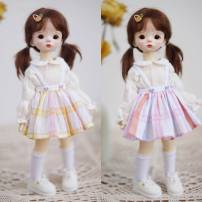 BJD doll zone suit 1/6 Over 14 years old goods in stock A set of pink and blue 4, a set of pink and yellow 4, a bubble sleeve primer, a pair of lace socks, pumpkin pants replaced with this, a pink and blue skirt, a pink and yellow skirt Bjd6 / Big 6 size