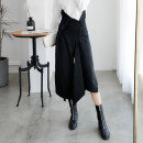Casual pants black S, M Autumn of 2019 Cropped Trousers Wide leg pants High waist original routine 18-24 years old 31% (inclusive) - 50% (inclusive) Junya Watanabe  polyester fiber pocket cotton Asymmetry