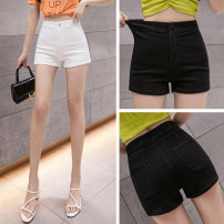 Jeans Summer 2021 White, black, custom made from 500 pieces S,M,L,XL,2XL shorts High waist Knickerbockers routine 18-24 years old Button, multiple pockets Cotton elastic denim light colour 3A 31% (inclusive) - 50% (inclusive)
