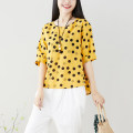 T-shirt White, yellow, black M,L,XL,2XL Summer of 2019 elbow sleeve Crew neck easy Regular commute other 51% (inclusive) - 70% (inclusive) 25-29 years old ethnic style literature Wave point