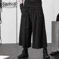 Casual pants Decadence elements Youth fashion black M,L,XL routine Capris Other leisure easy No bullet summer youth tide 2021 middle-waisted Straight cylinder Low crotch straddle pants Arrest line washing plain cloth cotton Original designer