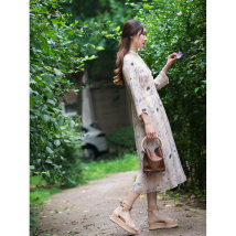 Dress Autumn of 2018 Decor XS S M L XL Mid length dress singleton  Long sleeves Sweet Crew neck Decor routine Journey More than 95% other