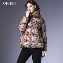 Down Jackets Autumn 2020 OIBEE Decor S M L XL White duck down 90% routine Long sleeves thickening zipper Hood commute routine Cape type Decor SL870748 250g (including) - 300g (excluding) Britain Printed stitched zipper 30-34 years old 96% and above nylon Polyamide fiber (nylon) 100%