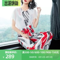Casual pants Decor S,M,L,XL,2XL Summer of 2019 trousers Jumpsuit High waist commute Thin money 25-29 years old 96% and above LK552SP19-1 Meifeiya polyester fiber pocket polyester fiber