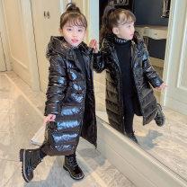 Cotton padded jacket female No detachable cap Cotton 91% - 95% Other / other black 110cm, 120cm, 130cm, 140cm, 150cm, 160cm, 110-160 thickening Korean version Solid color Class B High collar BYLT-Z2938 3 months