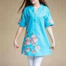 Women's large Summer of 2019 White, orange, rose, green, lake blue, Navy, denim M [suggested 95-105 kg], l [suggested 105-115 kg], XL [suggested 115-130 kg], XXL [suggested 130-140 kg], XXXL [suggested 140-150 kg], 4XL [suggested 150-160 kg], 5XL [suggested 160-175 kg] Dress singleton  commute easy