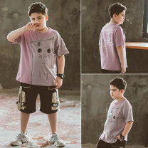 T-shirt Pretty boy 140cm 150cm 160cm 170cm 180cm male summer Short sleeve Crew neck Korean version There are models in the real shooting nothing other other Cotton 93.6% polyurethane elastic fiber (spandex) 6.4% X20048 Class B other Summer 2020 Chinese Mainland Zhejiang Province Huzhou City
