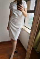 Dress Summer of 2019 Yellow, white 4,6,8,10,12 Mid length dress singleton  Other / other