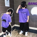 T-shirt Purple bear wings T, purple bear wings t (pre-sale) Other / other 100cm,110cm,120cm,130cm,140cm,150cm neutral summer Short sleeve Crew neck solar system There are models in the real shooting nothing cotton Solid color Seven, eight, three, six, two, five, four, ten, nine Chinese Mainland