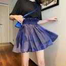 skirt Spring 2020 S,M,L Dark purple, light purple, dark purple [about 7 working days] Middle-skirt commute High waist Flower bud skirt Solid color Type A 18-24 years old Silk and satin boccalook fold Korean version