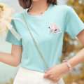 T-shirt Ice blue - T-shirt S M L Spring 2021 Short sleeve Regular polyester fiber 96% and above 25-29 years old ATAR Y2478 Polyester 100% Pure e-commerce (online only)