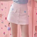 skirt Summer of 2019 S M L White - skirt pants Short skirt Natural waist 25-29 years old K9329 More than 95% ATAR polyester fiber Polyester 100% Pure e-commerce (online only)