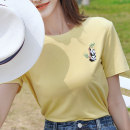 T-shirt Yellow - T-shirt S M L Summer 2021 Short sleeve Crew neck easy Regular routine commute polyester fiber 96% and above 18-24 years old youth Cartoon animation ATAR Y2619 Polyester 100% Pure e-commerce (online only)