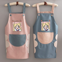 apron Sleeveless apron waterproof Korean version PVC Personal washing / cleaning / care Average size public yes Hand drawing style of illustration