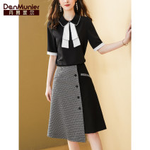 Fashion suit Summer 2021 155 / 80A / s 15 days 160 / 84A / M 15 days 165 / 88a / L 15 days 170 / 92a / XL 15 days 175 / 96a / XXL 15 days black Over 35 years old Danmunier 91% (inclusive) - 95% (inclusive) polyester fiber Polyester 95% polyurethane elastic fiber (spandex) 5%