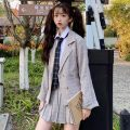 suit Spring of 2019 White shirt + tie, plaid suit S. M, average size Long sleeves Single breasted lattice Other / other
