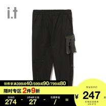 Casual pants 5cm Youth fashion S M L XL Capris Other leisure Straight cylinder Cotton 67% polyester 33% Autumn of 2018 Same model in shopping mall (sold online and offline)
