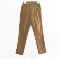 Casual pants White, Khaki Average size Spring 2020 Versatile routine PINK JULIE