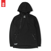 Jacket IZOD Youth fashion It's black 170/92A/S 175/96A/M 180/100A/L 185/104A/XL routine easy Other leisure autumn A11193JK107 Polyamide fiber (nylon) 90% polyurethane elastic fiber (spandex) 10% Long sleeves Wear out Hood American leisure youth Oblique lapel Rubber band hem Closing sleeve other