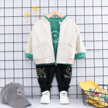 suit Other / other 73cm,80cm,90cm,100cm,110cm,120cm neutral spring and autumn leisure time Long sleeve + pants 3 pieces routine No model Zipper shirt nothing Cartoon animation cotton children Learning reward Class A Cotton 95% other 5%