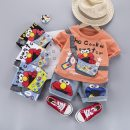 suit Other / other 80cm,90cm,100cm,110cm male summer leisure time Short sleeve + pants 2 pieces Thin money No model Socket nothing Cartoon animation cotton children Learning reward Class A Cotton 95% other 5% 6 months, 12 months, 9 months, 18 months, 2 years, 3 years, 4 years