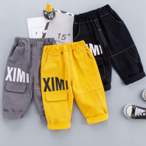 trousers Other / other neutral 80cm,90cm,100cm,110cm,120cm Yellow, gray, black spring and autumn trousers leisure time No model Casual pants Leather belt middle-waisted cotton Open crotch Cotton 95% other 5% 211101 letter overalls Class A