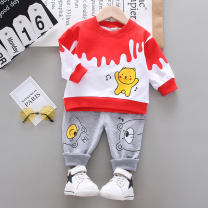 suit Other / other Blue, yellow, red, bright yellow, off white, light yellow, peacock blue, red small, orange red, dream red 73cm,80cm,90cm,100cm,110cm male spring and autumn leisure time Long sleeve + pants 2 pieces routine No model Socket nothing Cartoon animation cotton children Learning reward