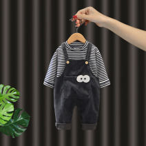 suit Other / other 73cm,80cm,90cm,100cm,110cm neutral spring and autumn leisure time Long sleeve + pants 2 pieces routine No model Socket nothing stripe cotton children Learning reward Class A Cotton 95% other 5%