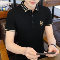 Polo shirt Other / other Youth fashion thin M,L,XL,2XL,3XL Self cultivation Other leisure summer Short sleeve tide routine youth Cotton 59% polyester 41% 2021 other cotton No iron treatment Button decoration 50% (inclusive) - 69% (inclusive)