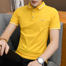 Polo shirt A.D Hepburn Fashion City routine White, black, yellow, brown, 1310 black, 1310 pink, 1310 light blue, 1310 brown, 873 green, 873 white, 873 gray, 873 black, 9027 pink, 9027 black, 9027 white Self cultivation Other leisure summer Short sleeve fqd312 Youthful vigor routine