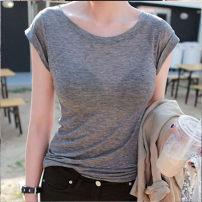 T-shirt Average size Summer of 2019 Short sleeve Crew neck Self cultivation Regular routine commute cotton 86% (inclusive) -95% (inclusive) Korean version